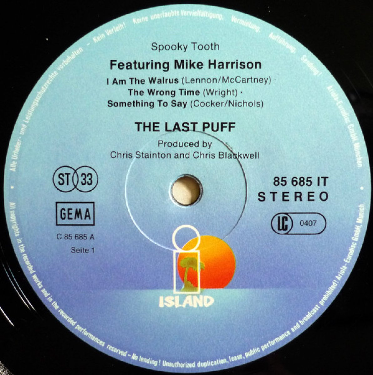 "Spooky Tooth Featuring Mike Harrison ""The Last Puff"""
