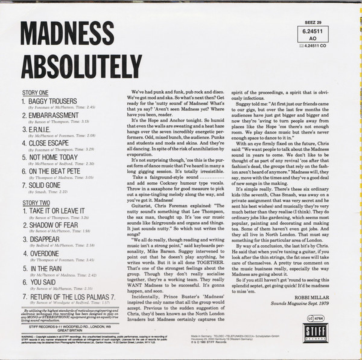 """Madness """"Absolutely"""""""