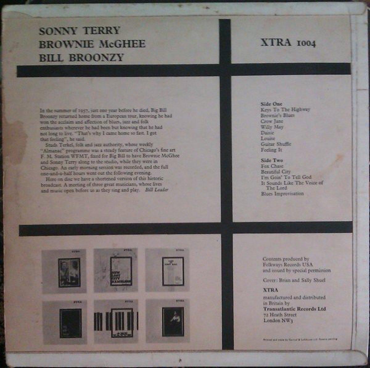"Bill Broonzy, Sonny Terry, Brownie McGhee ""Bill Broonzy Sonny Terry Brownie McGhee"""