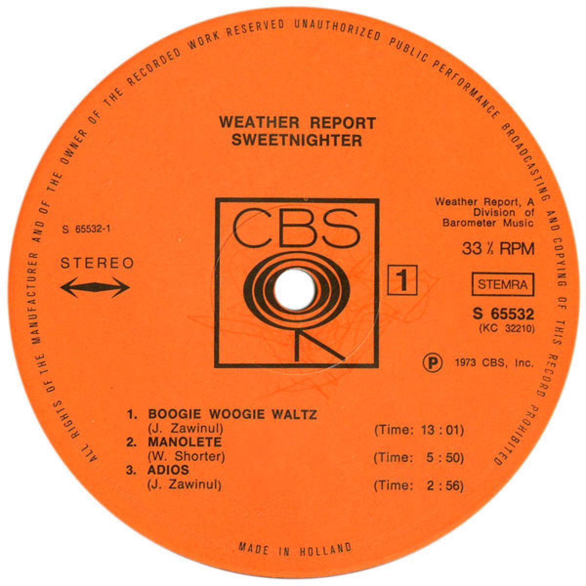 """Weather Report """"Sweetnighter"""""""