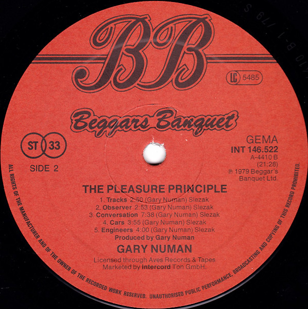 "Gary Numan ""The Pleasure Principle"""