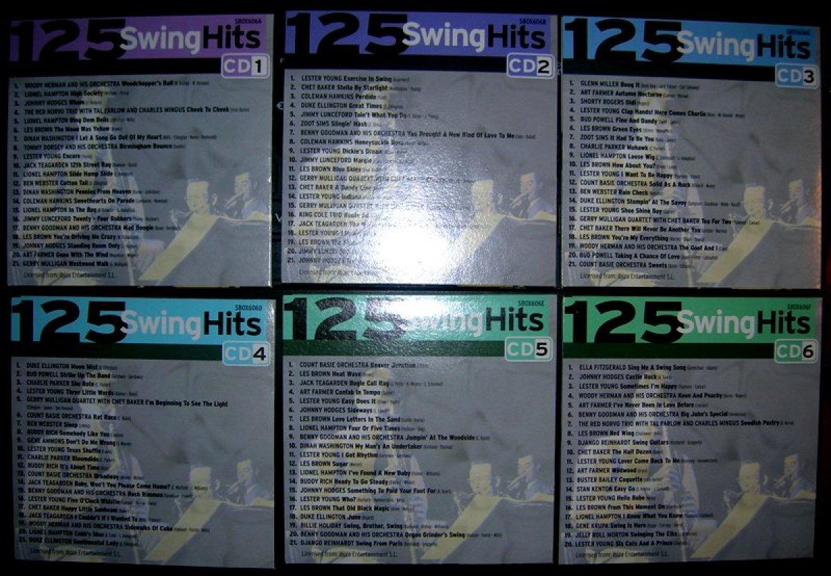 "125 Swing Hits "" Jazz & Blues "" 6cd-box"