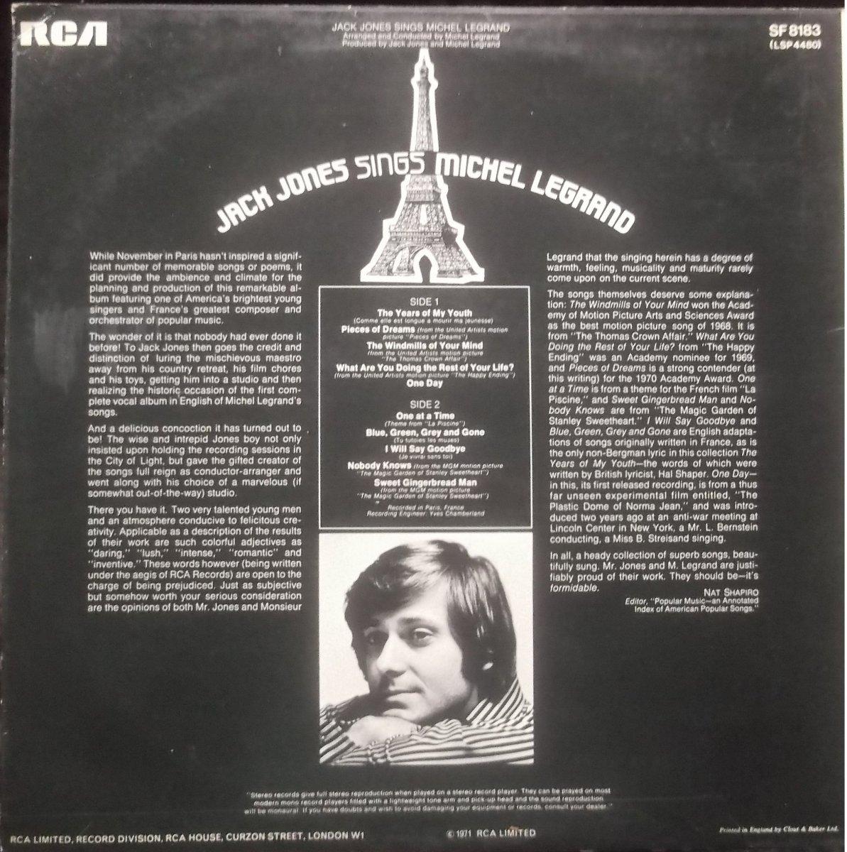 Jack Jones – Jack Jones Sings Michel Legrand