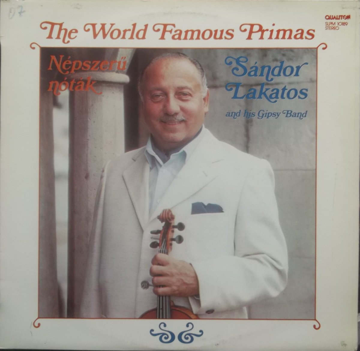 Sándor Lakatos And His Gipsy Band – The World Famous Primas