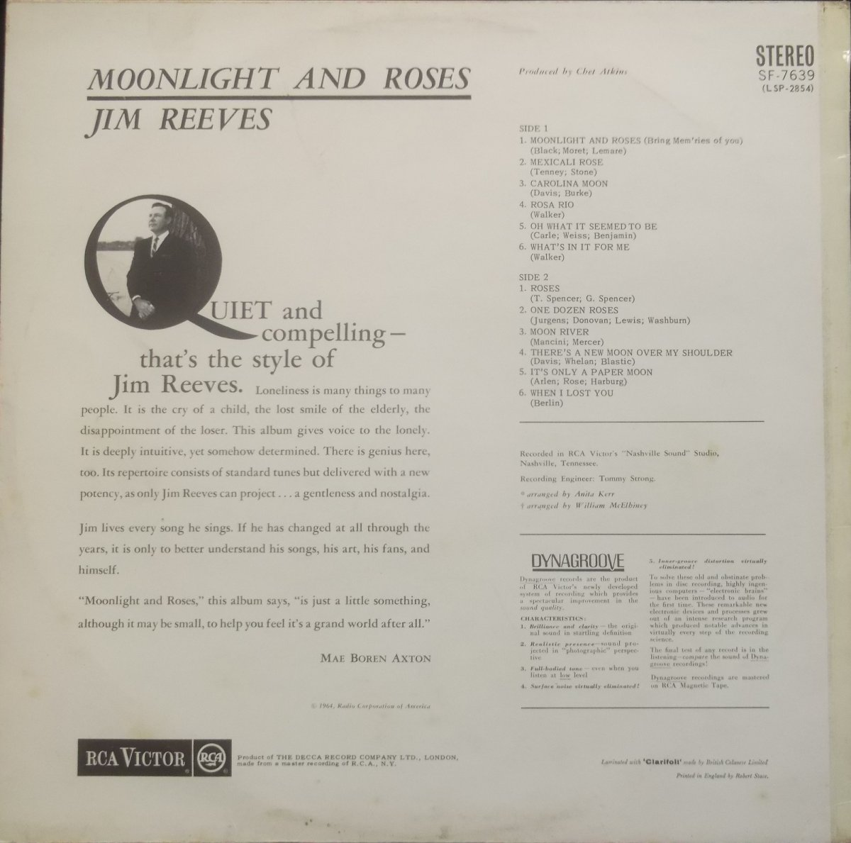 Jim Reeves – Moonlight And Roses