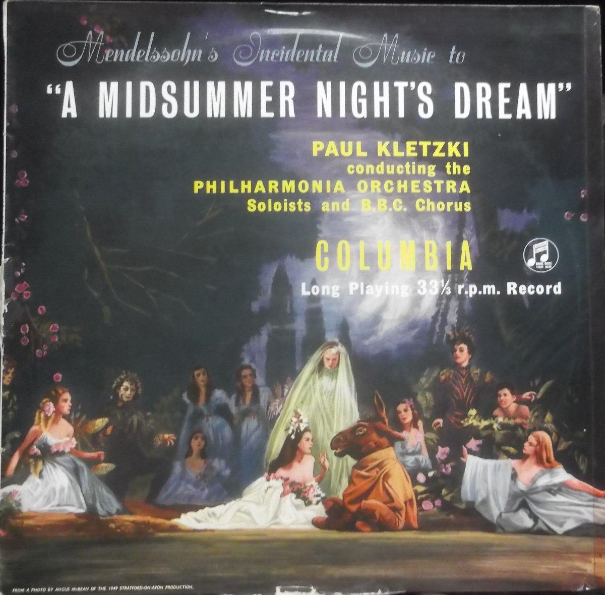 Felix Mendelssohn-Bartholdy - A Midsummer Night's Dream MONO