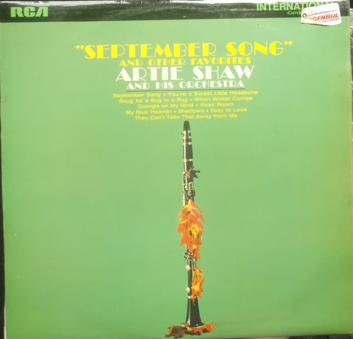 Artie Shaw And His Orchestra – September Song And Other Favourites