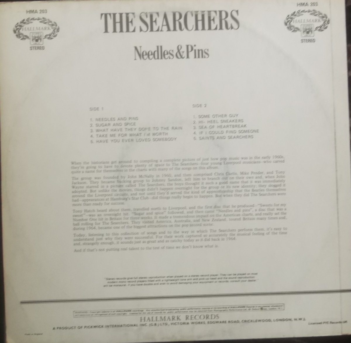 The Searchers – Needles & Pins