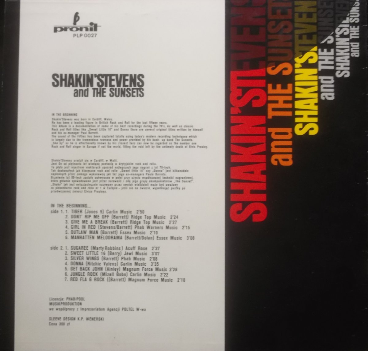 Shakin' Stevens And The Sunsets – ...In The Beginning...