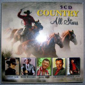 All Stars Country 5 cd w zestawie-Johnny Cash,Hank Williams Hank Snow,Jim Reeves, Frankie Laine